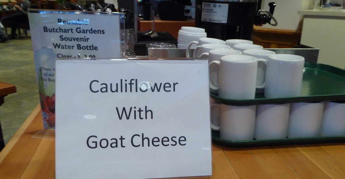 Sign for caulifower