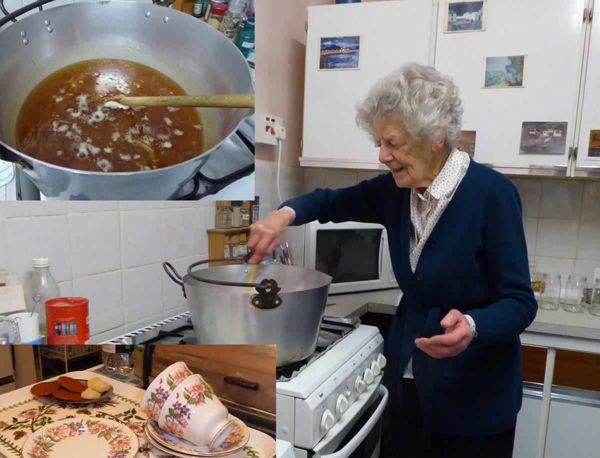 Woman making marmalade