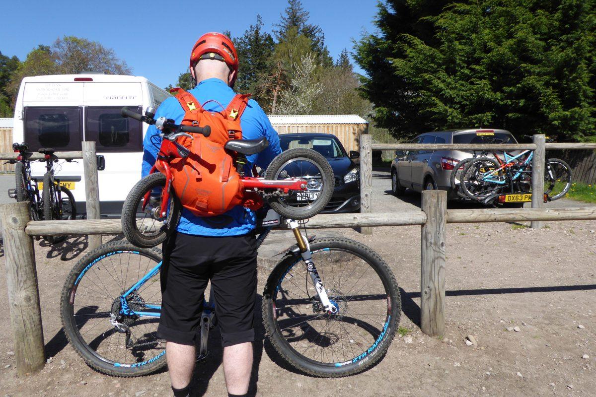 Bike in a rucksack